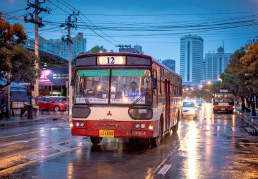 Bangkok Bus in the Rain