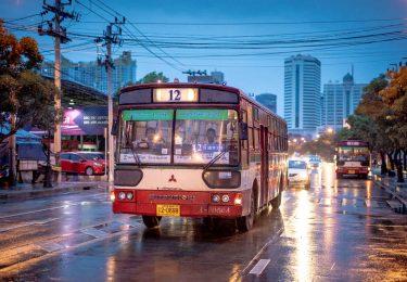 Bangkok Bus in the Rain