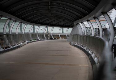 Cybertower Walk Over Bridge
