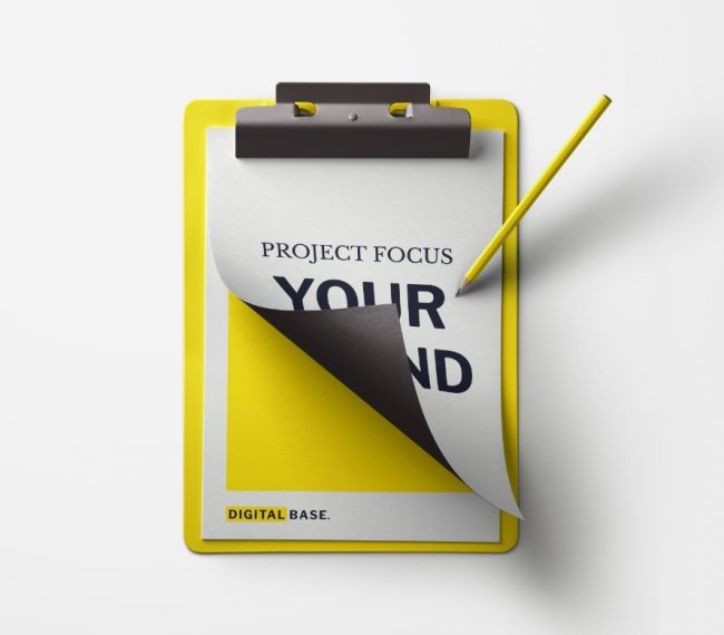 "Yellow ""Project Focus"" Clipboard"