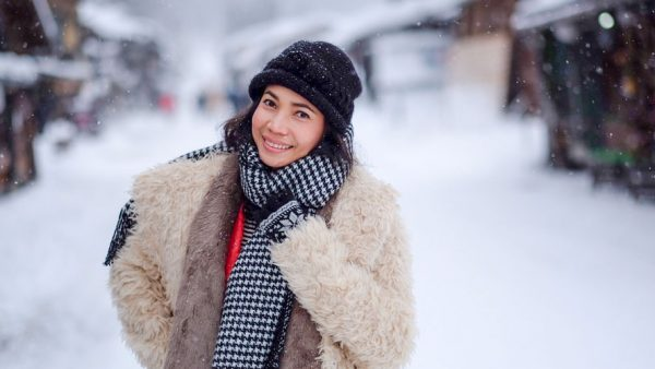 P'Top with Winter Clothes in the Snow