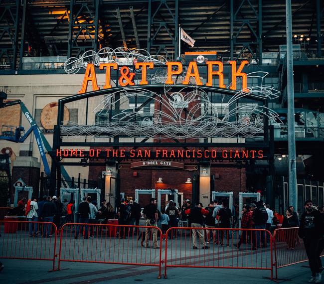 AT&T Park Baseball Sign