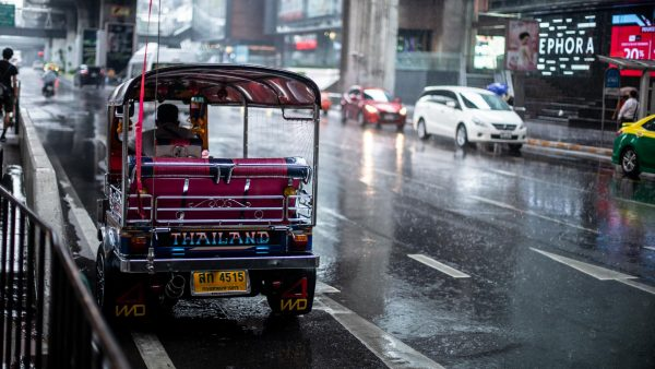 Tuk Tuk from Behind - In the Rain
