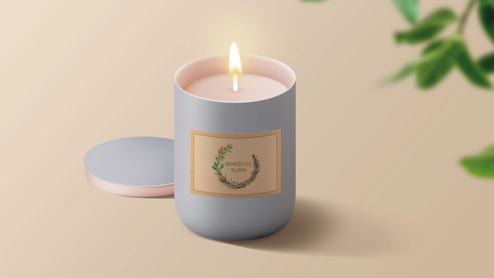 Mindful Turn Candle