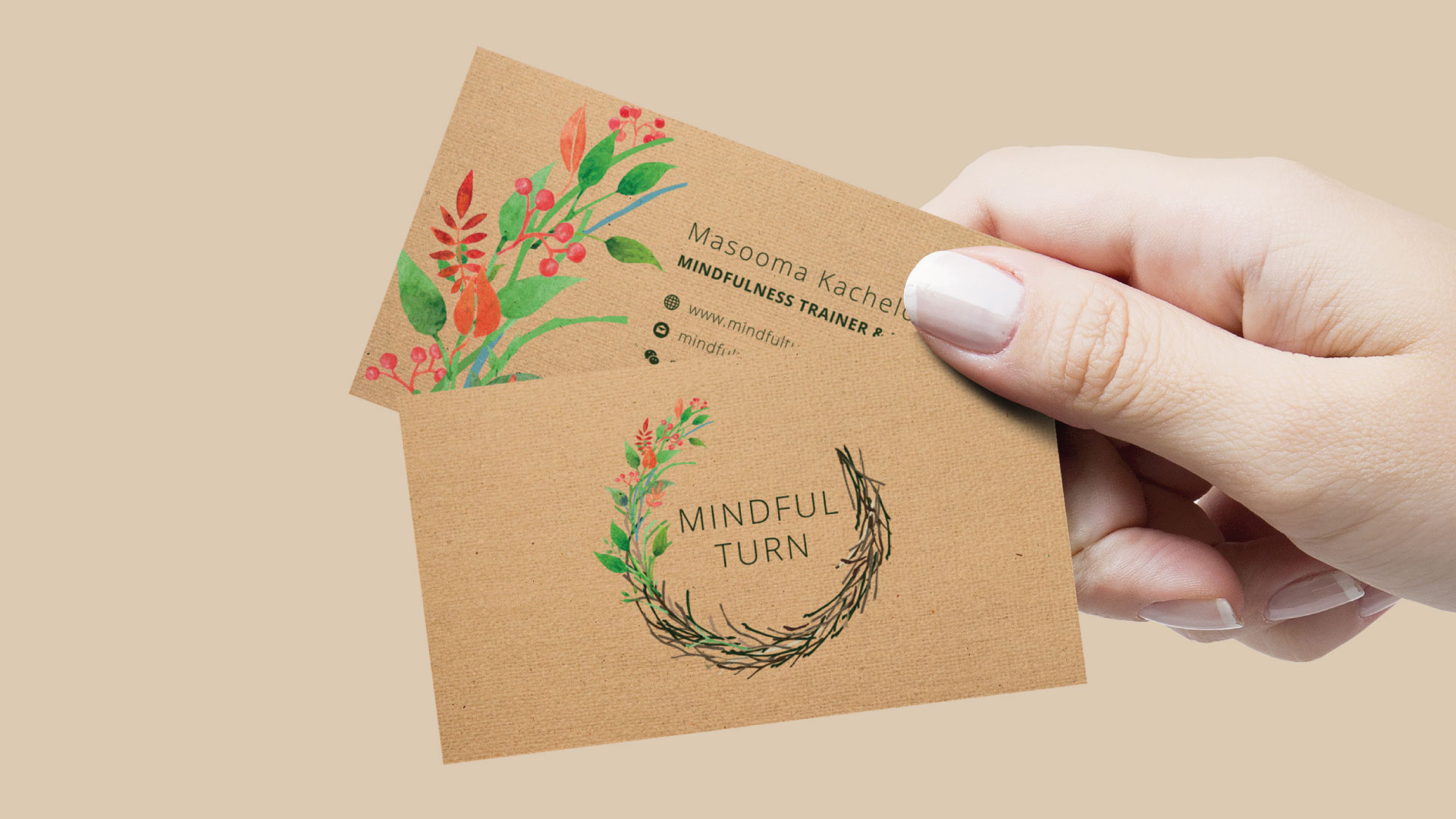 Minful Turn Business Cards