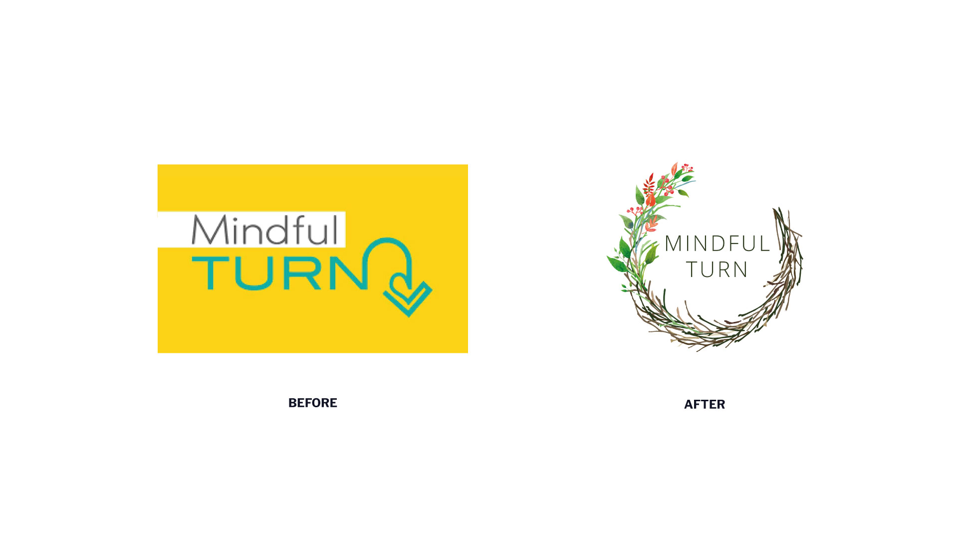 Mindful Turn Logo - Old & New