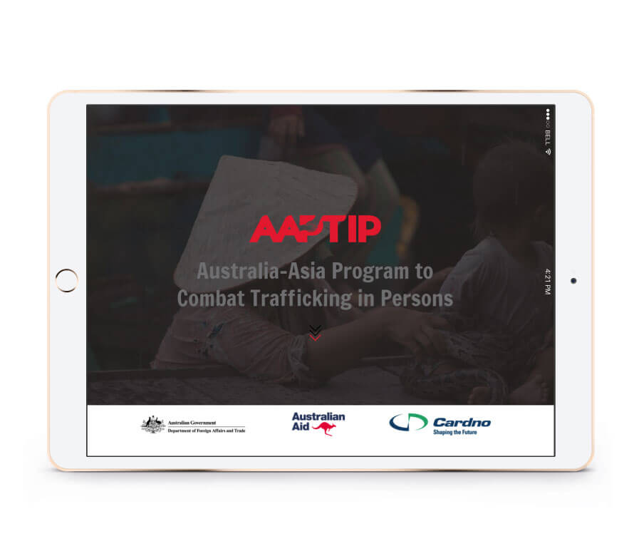 AAPTIP Website on Ipad (White Background)