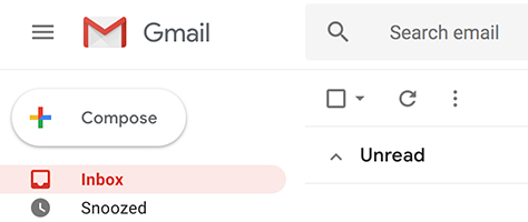 Gmail Updated Compose Button