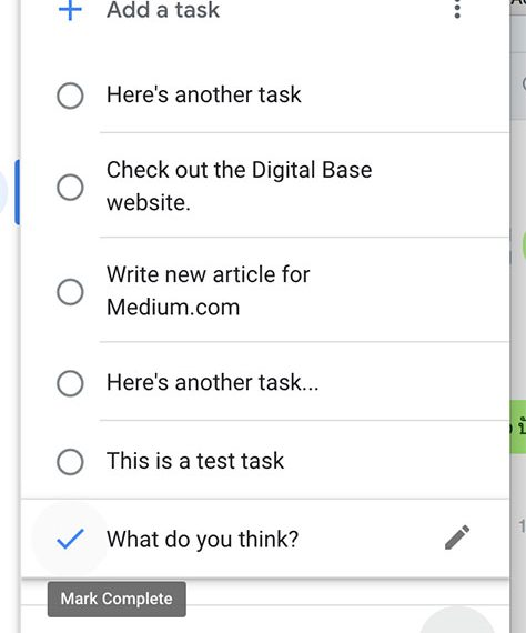 Gmail Tasks List