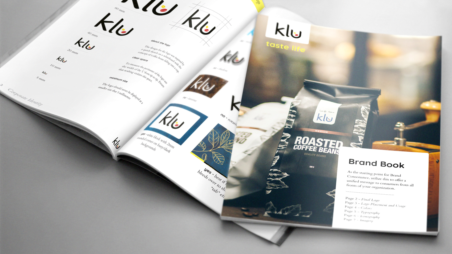 Klu Brand Book Paper Mockup