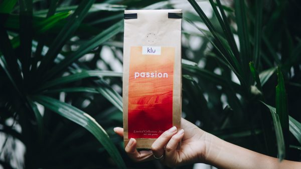 Passion packaging with plants in Background