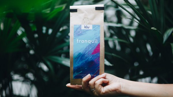Tranquil packaging with plants in Background