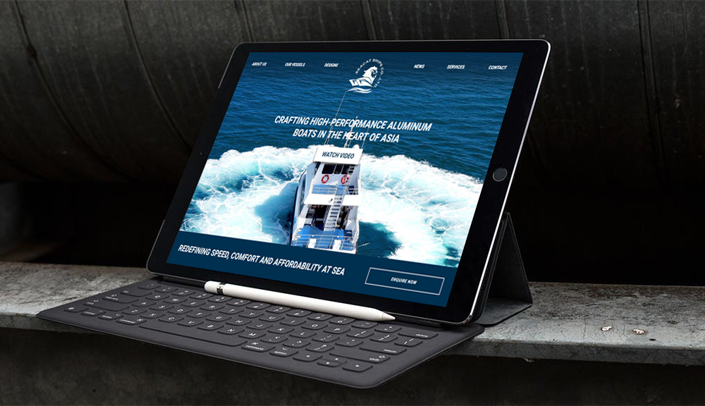 Seacats iPad with Keyboard Mockup