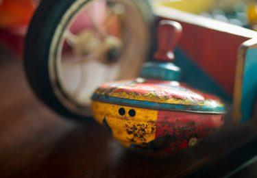 Vintage Tin Spinning Top